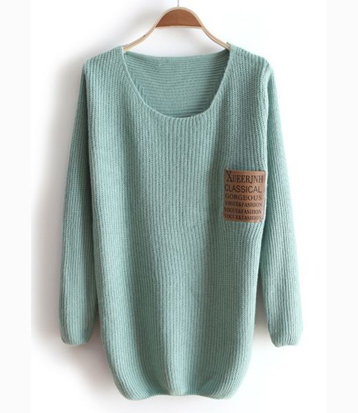 ROUND NECK LONG SLEEVE SWEATER FEMALE LOOSE SWEATER For Girls on ...